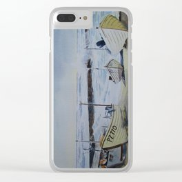 Sennen Cove Fishing Boats Clear iPhone Case