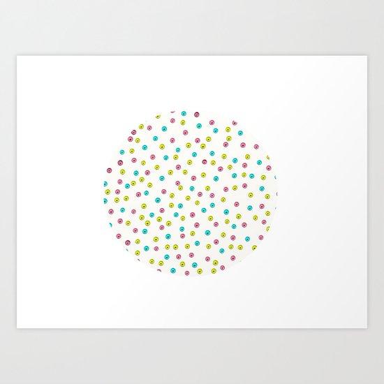 Dots - JUSTART © Art Print