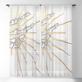 Skeleton Hand Inktober :: Dreadful Fairy Tales Sheer Curtain