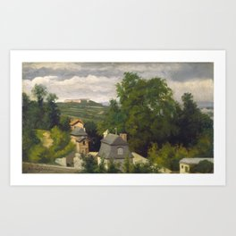 View on the Outskirts of Caen Art Print