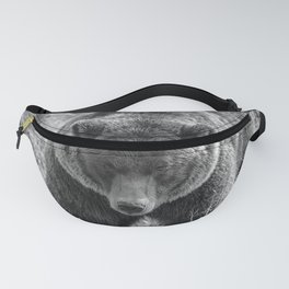 Grizzly Bear - B & W Fanny Pack