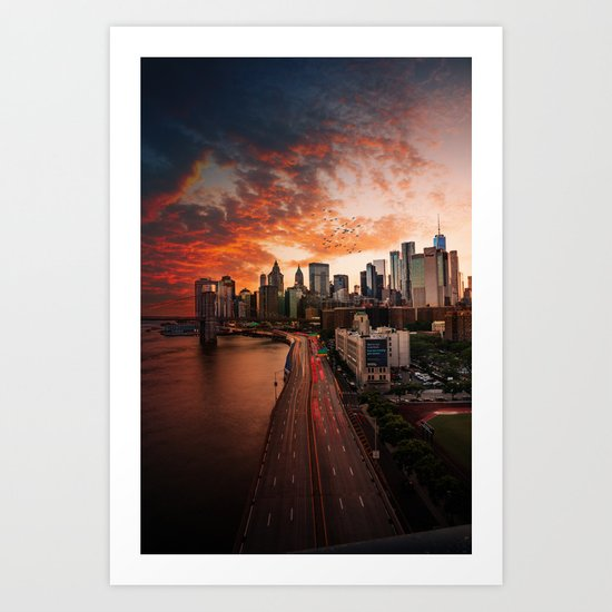 New York Sunset by chillyposters