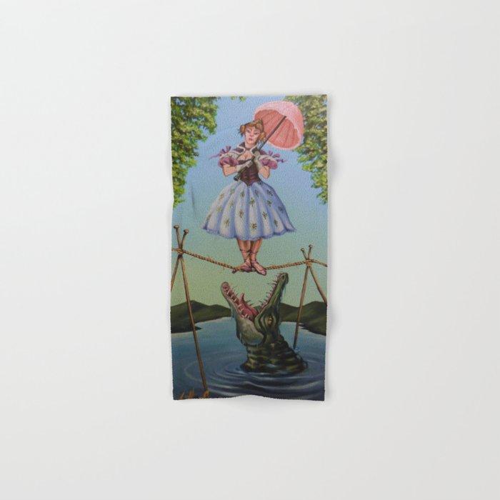 Haunted Mansion Portrait: Trapeze Girl Hand & Bath Towel