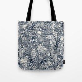 forest floor indigo ivory Tote Bag