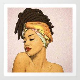 WOMEN--HAIR Art Print