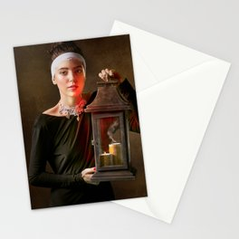 Girl with a Lantern Stationery Cards