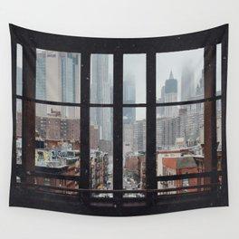 New York City Window Wall Tapestry