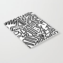 black & white doodle Notebook