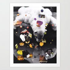 Momentarily visible Art Print