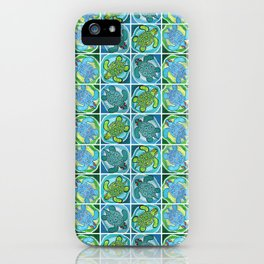 Funky Teal Turtle iPhone Case