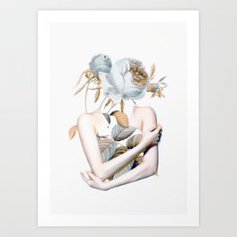 Inner beauty-collage 2 Art Print