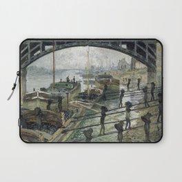 Claude Monet The Coalmen Laptop Sleeve