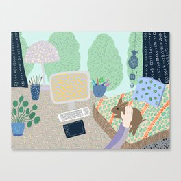 My home sweet home with bunny Canvas Print