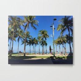 Tourist Palms Metal Print