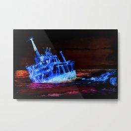 shipwreck aqrestdi Metal Print