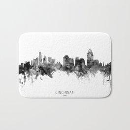 Cincinnati Ohio Skyline Bath Mat