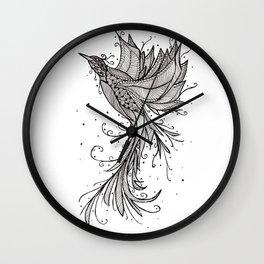 Phoenix Paradise Lost Wall Clock