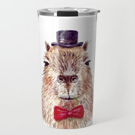 "Watercolor painting ""Sir Capybara"" Travel Mug"