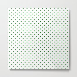 Dots (Forest Green/White) Metal Print