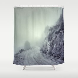 Expectation. Retro Shower Curtain