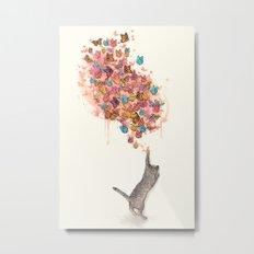 catching butterflies Metal Print