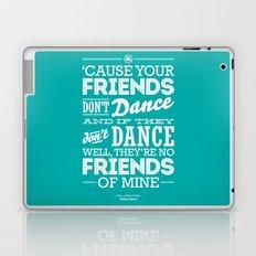 One Hit Wonder- Safety Dance in Teal Laptop & iPad Skin