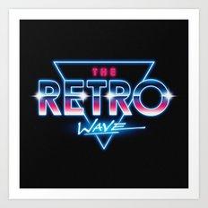 The Retro Wave Art Print