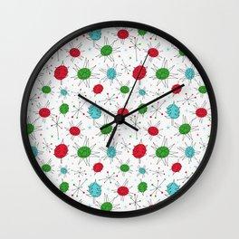 Atomic Ornaments Wall Clock