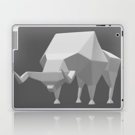 Low polygon style bull Laptop & iPad Skin