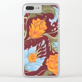 Floral Croquis Clear iPhone Case