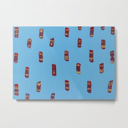 Monsters totems pattern Metal Print