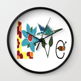 L Is For Love Wall Clock