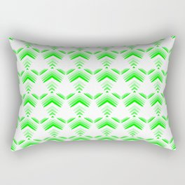 Pastel pattern of green hearts and flowers on a white background. Rectangular Pillow