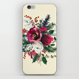 Christmas Winter Floral Bouquet No Text iPhone Skin