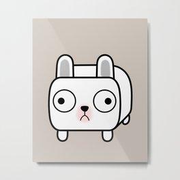 French Bulldog Loaf - White Frenchie Metal Print