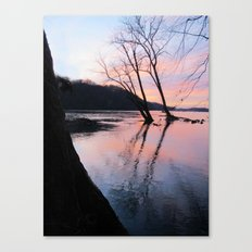 reflecting dusk Canvas Print