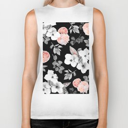 Night bloom - moonlit flame Biker Tank