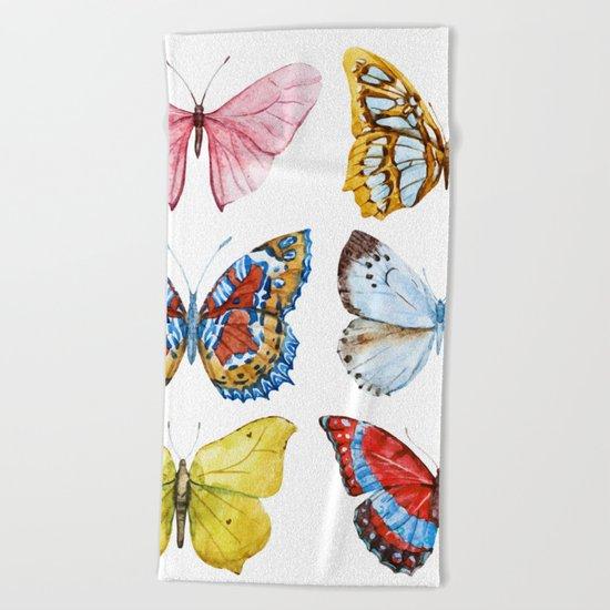 Butterflies 01 Beach Towel