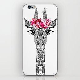 FLOWER GIRL GIRAFFE iPhone Skin