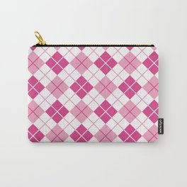 Argyle in Pink Carry-All Pouch
