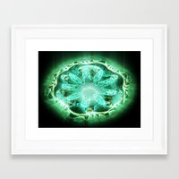 flower of life Framed Art Prints featuring Flower life by Michal Dunaj