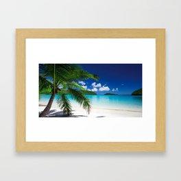 Classic Tropical Island Beach Paradise Framed Art Print