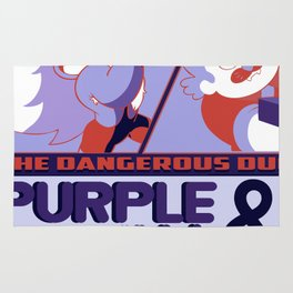 Purple Puma & Tiger Millionaire! Rug