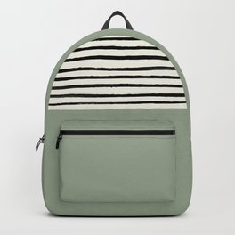 Sage Green x Stripes Backpack
