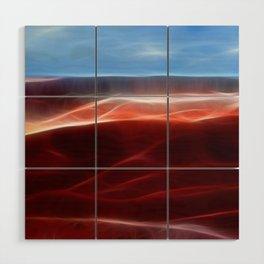 Artistic red Desert Wood Wall Art