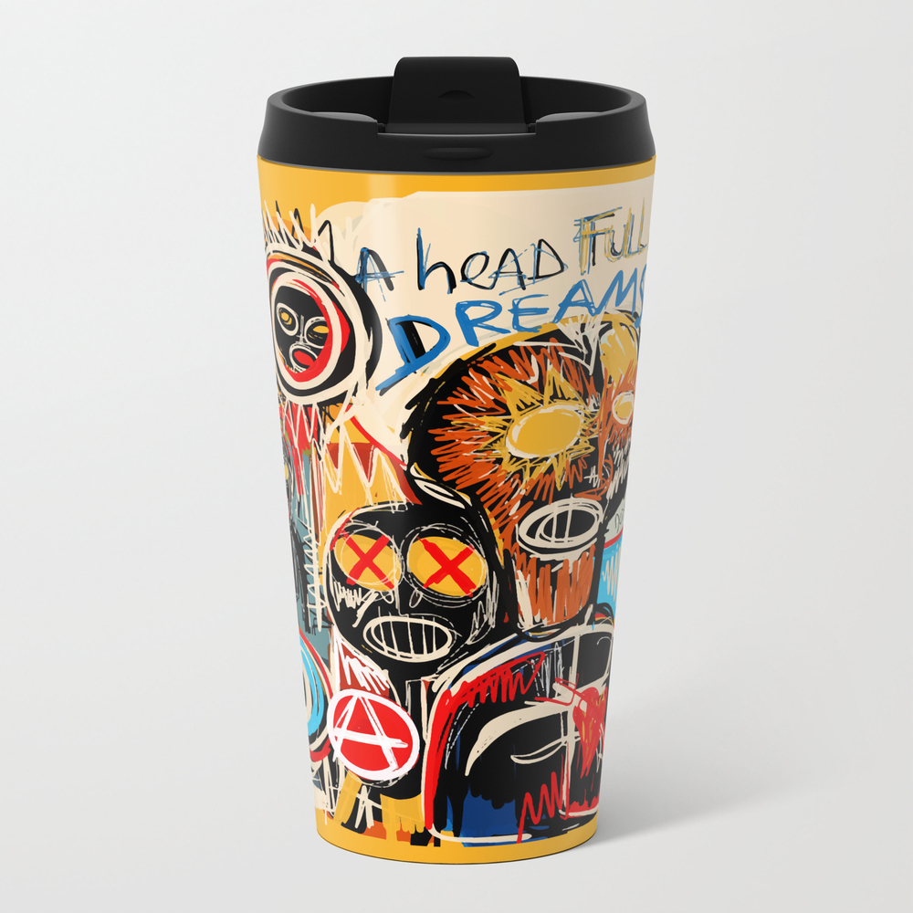 Head Full Of Dreams Metal Travel Mug by Emmanuelsignorino MTM3985168