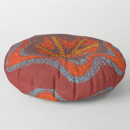 Growing - Clematis - plant cell embroidery Floor Pillow