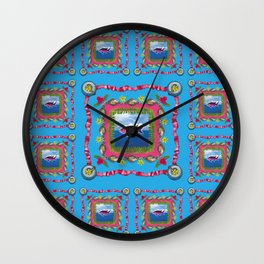 PATTERN - ISLE OF DREAMS Wall Clock
