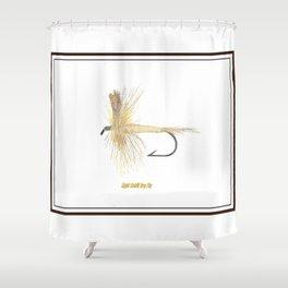 Light Cahill Dry Fly Shower Curtain