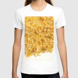 Group of Pasta on White T-shirt